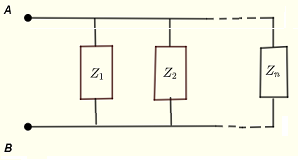 impedances grouped in parallel
