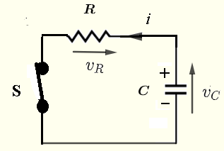 series RC transient circuit analysis with a discharging of a capacitor